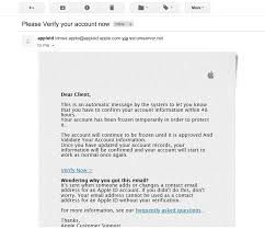 Targets Verification Email Personal Apple Id Your Info Fake