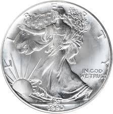 Value Of 1990 1 Silver Coin American Silver Eagle Coin
