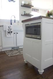 microwave in island. Adding A Microwave In Your Kitchen Island