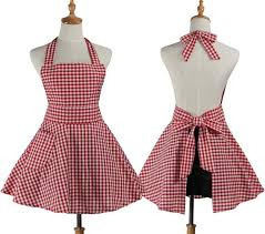 kitchen apron. korean household cleaning kitchen apron cooking retro plaid maid costume cotton working salon hairdresser dress mother daughter aprons shop