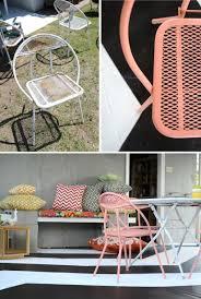 mid century patio furniture makeover