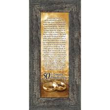bands of gold 50th golden wedding anniversary gift picture frame 6x12 7318 walmart