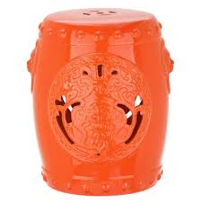 patio stool: dragon coin orange patio stool b b a ac aeecefde