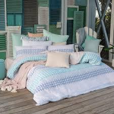 Quilt Cover Sets Online | Pillow Talk & Horizon Light Blue Quilted Quilt Cover Set Adamdwight.com