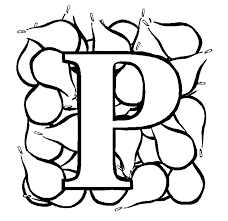 Small Picture Letter P Pear coloring page