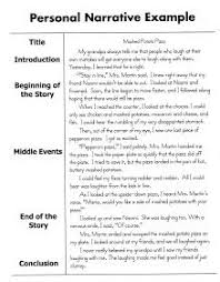 this personal narrative example is provided by time for kids w  personal narrative essay sample