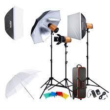 ox 300sdi professional photography lighting lamp kit set with light stand softbox barn door trigger 300w