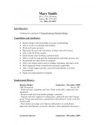 Sample Kitchen Helper Resume Cover Letter Sample Kitchen Assistant Resume Hand Position Format 3
