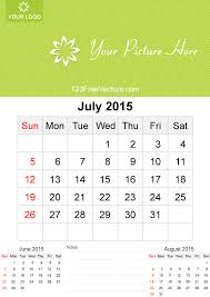 Calendars For June And July 2015 July 2015 Calendar Template Vector Free