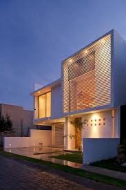 view modern house lights. Front Compact House Exterior Among Modern Home Shaped Design With White Wall Decoration Ideas Used Flat View Lights