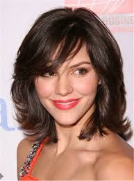 Square Face Bangs Hairstyle Layered Hairstyles For Medium Length Hair Square Face Length