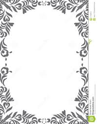 Border Black And White Decorative Black And White Border Stock Vector Illustration Of