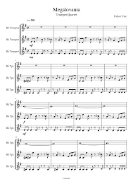 megalovania trumpet sheet music megalovania trumpet trio simplified sheet music for trumpet