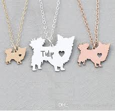 whole 2018 new women jewelry longhair dog charm chihuahua dog necklace personalized names or letters dropship accepted yp6366 diamond pendants necklaces