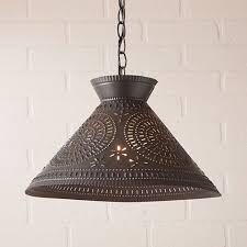 farmhouse lighting fixtures. roosevelt farmhouse shade pendant light with chisel in kettle black lighting fixtures