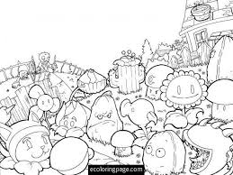 Plants Vs Zombies Coloring Page Printable Coloring Book Plants