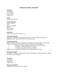 Sample Cover Letter Heading Choice Image Letter Samples Format