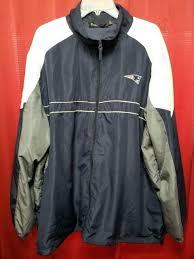 new england patriots coats blue windbreaker jacket football size raincoat new england patriots coats previous winter