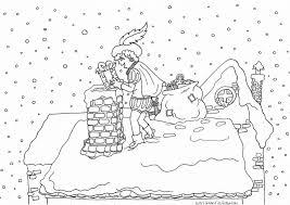Sinterklaas Kleurplaat Zwarte Piet Op Dak