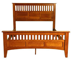 mission style bed frame excellent plans in house interiors with oak