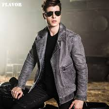 2016 mens motorcycle jackets real leather jacket pigskin denim style jackets genuine leather jacket men leather