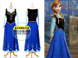 HOT SALE! Cartoon Character Costumes Frozen Sister Anna Costume Clothes Set  Frozen Movie Dress Halloween Womenu0027s Cosplay Clothes