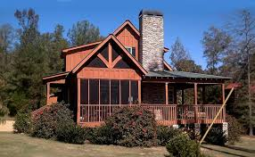Rustic Cottage House Plan   Small Rustic Cabinrustic cottage plan   wraparound porch