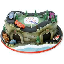 Racing Track With Cars Cake Birthday Cakes The Cake Store