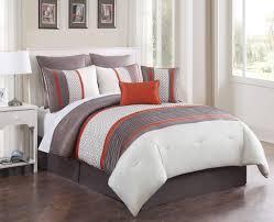 8 piece queen aruba orange taupe comforter set decorate with orange bed set