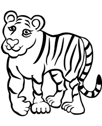 Small Picture Sad Tiger coloring page Free Printable Coloring Pages