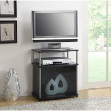 Cherry Wood Dvd Storage Cabinet Convenience Concepts Designs2go No Tools Tv Stand With Black Glass
