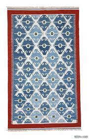 blue light blue new turkish kilim area rug