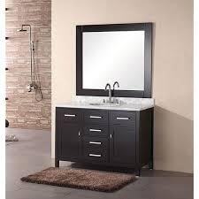 48 inch mirror. Design Element 48-inch Lindon Modern Bathroom Vanity Set With Mirror - Black 48 Inch E