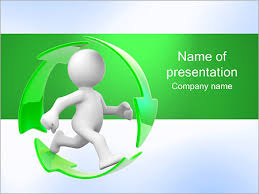Running And Recycling Powerpoint Template Infographics Slides