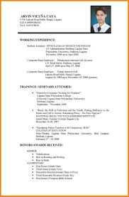 Format Resume Sample Cv Format Sample Resume Example Pdf Curriculum Vitae Of A 60 59