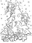Мультик зимняя раскраска