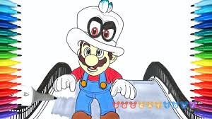 How To Draw Mario Odyssey Mario And Cappy 36 Drawing Coloring