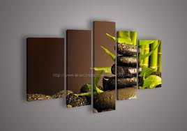 panel wall art botanical bamboo oil painting on canvas knife office decor artwork hand painted on artwork for the office