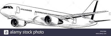Airplane Drawing Aircraft Drawing Stock Photos Aircraft Drawing Stock Images Alamy