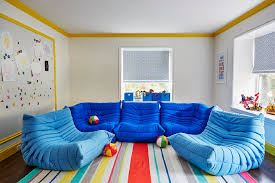 unique playroom furniture. contemporary playroom features light gray paint on walls finished with yellow crown moldings and base boards lined an extralarge magnetic board unique furniture p