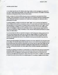 employees accuse college of racism discrimination in letter to naacp letter page 1
