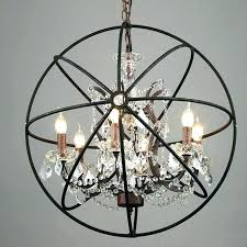 rustic orb chandelier sphere pendant light lights iron crystal lamp 1 white o