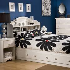 kids full size beds with storage. Delighful Storage South Shore Summer Breeze Mates Vanilla Bookcase Bed Collection  Hayneedle In Kids Full Size Beds With Storage