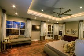 image of perfect recessed lighting in bedroom