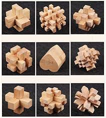 <b>Luban Lock</b> Nine Sets Of <b>Children</b> Puzzle Wooden Toy Set Luban ...