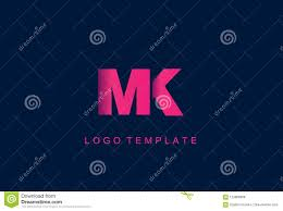 Mk Logo Design Vector Mk Letter Logo Design Vector Stock Vector Illustration Of