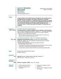 Experienced Nurse Resume Musiccityspiritsandcocktail Com