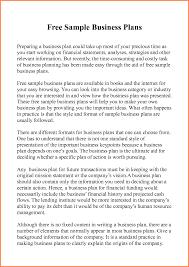 Business Plan Standard Sample Of Proposal Pdf Example Restaurant