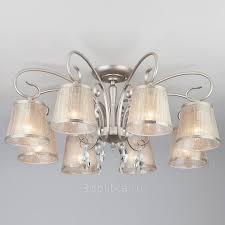 <b>Eurosvet</b> 60065 <b>60065/8 серебро люстра</b> потолочная купить в ...