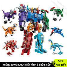 Bộ Lắp Ráp Robot Biến Hình QMAN, Lego Robot khủng long 6in1 giá cạnh tranh
